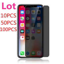 Bulk 100x Lot Privacy Anti-Spy Screen Protector For iPhone 12 XS MAX 11 7+ SE XR