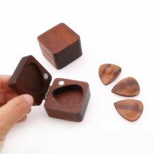 Walnut Wooden Guitar Pick Box Plectrum Holder Case Guitar Lover Musical Box Gift