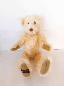 Ltd. Ed. mohair Canterbury Teddy Bear Gund 86/100 England 13in Yellow