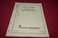 Allis Chalmers 2300 Self Propelled Sprayer Parts Book Manual DCPA4