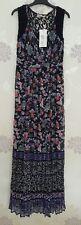 *BNWT* Size 10R M&S Per Una Floral Butterfly Print Crochet Back Maxi Long Dress