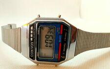 MONTRE WATCH LCD QUARTZ CONVOY 7 MELODY ALARM CHRONO HONK KONG VINTAGE 1980