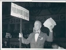 1941 US Army WWI General Frank Parker American Legion Convention Press Photo