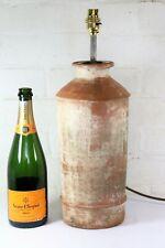 Lámpara De Mesa Antigua Francesa Terracota jarrón de jardín pátina hermoso conversión