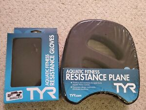 TYR Aquatic Resistance Plane for Aqua Fitness & Resistance Gloves - New Sealed