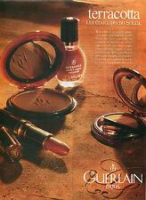 Publicité Advertising 1992  Poudre aux couleurs du soleil Maquillage