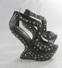 """Priviliged Blacks spike 6.5"""" high wedge heel 2""""platform shoes.Size..10  P"""