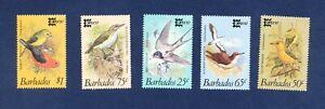 BARBADOS  # 674-678, DG 836/40 - VF MNH - Birds, CAPEX 87   - 1987