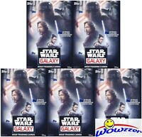 (5) 2018 Topps Star Wars Galaxy EXCLUSIVE Sealed Blaster Box-5 PATCH RELIC