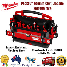 """New Milwaukee PACKOUT 500mm (20"""") Jobsite Storage Tote 48228320 28 Pockets Tool"""
