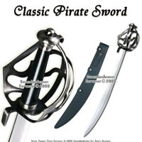 Caribbean Pirates Cutlass Sword Sabre w/ Basket Guard