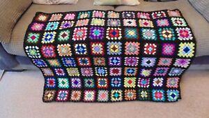 NEW Pretty Handmade Vintage Crochet GRANNY SQUARE Blanket Throw, Sofa, Camper