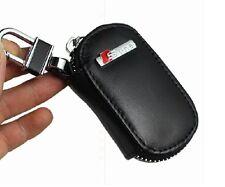 Sline Black Ture Leather Car Key Case Remote Key Bag For S5 S3 S4 S6 A3 A4 Q3 Q5