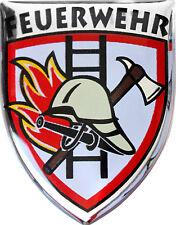 3D Epoxy PKW Aufkleber Sticker 3,1 x 2,5 cm Feuerwehr 302926-1