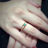 Gorgeous Natural Colombian Emerald and Zicon Wedding Ring 925 Sterling Silver