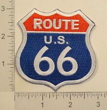 US ROUTE 66 Highway Road Sign Souvenir Biker PATCH