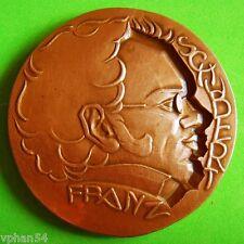 Classical Music / Austrian Composer Franz Schubert Bronze Medal by G SIMON! M19a