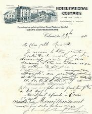 Dépt 68 - Colmar - Epoque Annexation Allemande Bel Hotel National Colmar - 1910