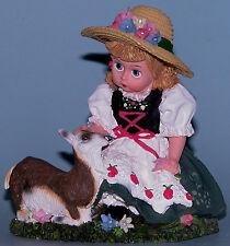 "Madame Alexander resin doll ""Heidi"" #90470 with mountain goat, Alps NIB"