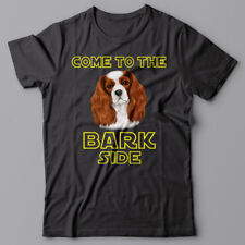 CAVALIER SPANIEL dog T-shirt COME TO THE BARK SIDE - dark side we have cookies