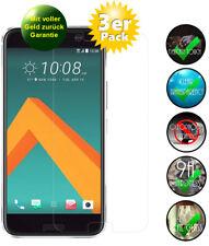 3x HTC 10 / One M10 Panzerglas 9H Echtglas, Displayschutz Panzerglasfolie
