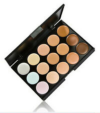 15 Colours Cream Concealer Camouflage Palette Dull/Red Skin Black Circle kit set