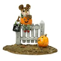 Wee Forest Folk Halloween Pickity Pumpkin 1998 Retired M-232 With Box