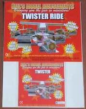 Fairground Twister Ride Model Card Kit on PDF Disc + A4 Card