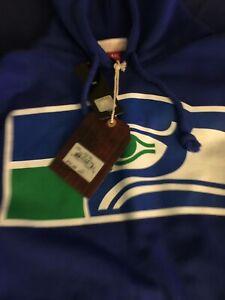 **Brand new Mitchell & Ness 4XL Seattle Seahawks blue hoodie RARE HTF**