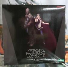 Kotobukiya Star Wars Han Solo and Chewbacca Artfx+ Statue New