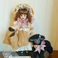 "BAA BAA BLACK SHEEP 1989 Wendy Lawton 13"" All Porcelain/Bisque Doll w/Sheep"