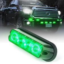Universal Dash Grille Side Marker 4 LED Strobe Lights Green Flash Offroad Truck
