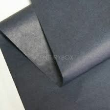 10 feuilles de soie papier mousseline 50 x 75 gris NEUF