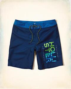 HOLLISTER Patterned Logo Classic Fit Boardshorts Size 34 **Brand New** Shorts