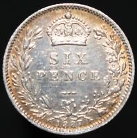 1887 | Victoria Sixpence 'Normal Reverse' | Silver | Coins | KM Coins