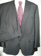 "Bill Blass Men's Charcoal Gray  Wool Pleated Front 46 LG 2 Piece Suit 40"" X 30"""