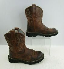 Ladies Ariat Fatbaby Brown Leather Western Cowgirl Boots Size : 6.5 B
