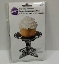 NEW Wilton Damask Individual Cupcake Stands Pedestals ~ Party Wedding pack of 6