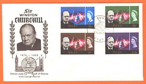 FIJI - 1966 - SIR WINSTON CHURCHILL COMMEMORATION - FIRST DAY COVER - REFER SCAN