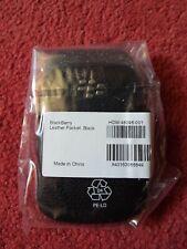 Genuine Blackberry 9320/9310/9220 Black Leather Premium Pocket Pouch Case