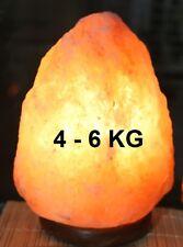 Lampada di Sale KG 4 / 6 kg , Sale dell'Himalaya, salgemma GREZZA100%NATURALE,
