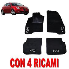 TAPPETINI AUTO SU MISURA PER ALFA ROMEO MITO IN MOQUETTE E GOMMA CON 4 RICAMI