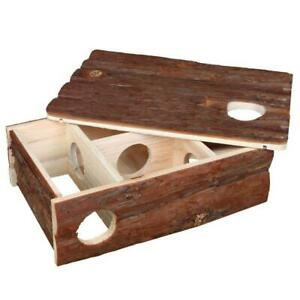 Trixie Natural Living Leif Labyrinth Wooden House, Hamsters/Mice, Removable Roof