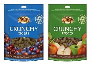 Nutro All Natural Crunchy Training Treats For Dogs 2 Flavor Variety Bundle: (...