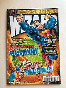 WIZARD Comics Magazine vol 1 #9  2001 French  Superman Fantastic Four Cvr