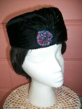 Adorable Reproduction Civil War 1860'S Black Velvet Glengarry Bonnet/Hat