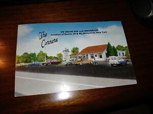 The Corners Ice Cream Bar and Restaurant Rte 29 40 Greenwich NY Vtg Postcard
