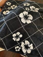 100% Cotton Organdy Black White Embroided Flowers 4 Yards