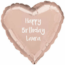 "Personalised Rose Gold Happy Birthday Party Balloon Gift 18"" Foil Balloon"