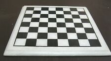 """12"""" White Marble Chess Table Top Corner Table Handicrafts From Agra India"""